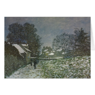 Snow at Argenteuil II, Monet Vintage Impressionism Greeting Card