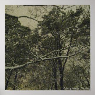 Snow at Dusk Poster
