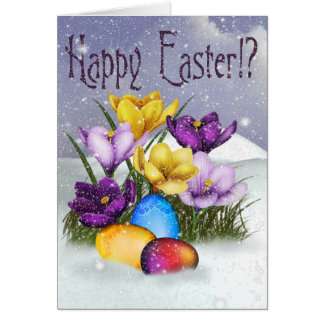 Snow at Easter Greeting Card