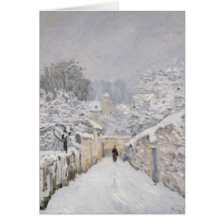 Snow at Louveciennes, 1878 Greeting Card