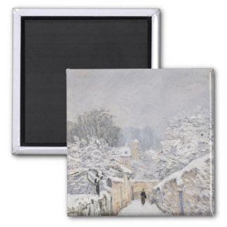Snow at Louveciennes, 1878 Magnet