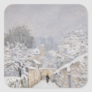 Snow at Louveciennes, 1878 Square Sticker
