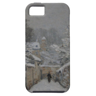 Snow at Louveciennes by Alfred Sisley iPhone SE/5/5s Case