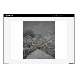 Snow at Louveciennes by Alfred Sisley Laptop Skins