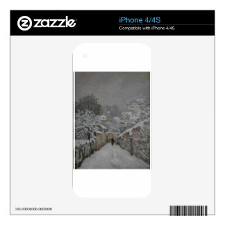 Snow at Louveciennes by Alfred Sisley Skins For iPhone 4S