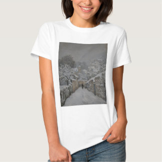 Snow at Louveciennes by Alfred Sisley T Shirt