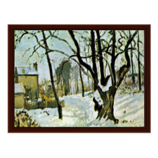 Snow At Louveciennes By Pissarro Camille Postcard