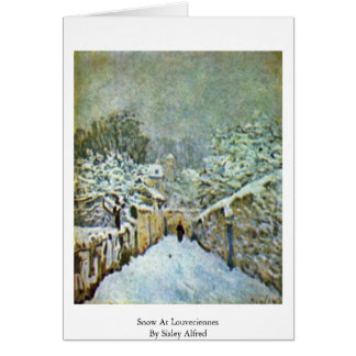 Snow At Louveciennes By Sisley Alfred Card