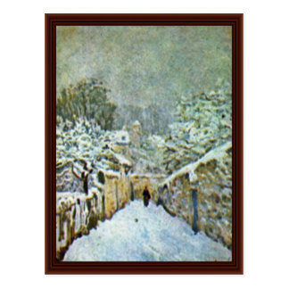 Snow At Louveciennes By Sisley Alfred Post Card