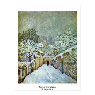 Snow At Louveciennes By Sisley Alfred Postcard