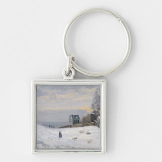 Snow at Montmartre, 1869 Keychains
