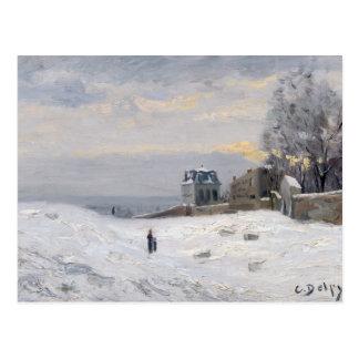 Snow at Montmartre, 1869 Postcard