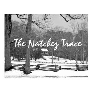 Snow at Mount Locust - Natchez Trace postcard