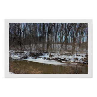 Snow at Pennypack Creek Philadelphia Poster