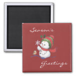 Snow Baby Holiday Magnet