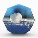"""Snow Ball Bubble Acrylic Award<br><div class=""""desc"""">Modern design with a bubble on snow. Perfect gift for birthday,  wish,  best friends and those looking for something unique.</div>"""
