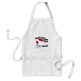 Snow Ball Fight Adult Apron