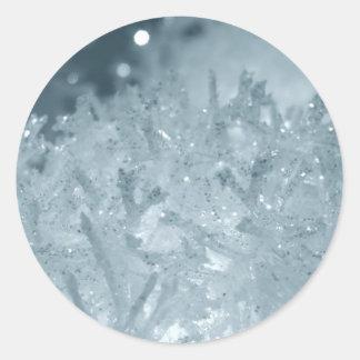 Snow balls 2 classic round sticker