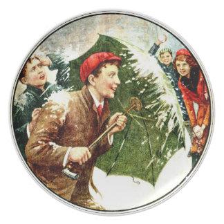 Snow Balls Plate