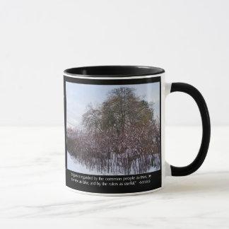 Snow, Bamboo and Trees with Seneca Quote Mug