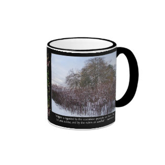 Snow, Bamboo and Trees with Seneca Quote Ringer Coffee Mug