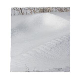 Snow Bank Notepad