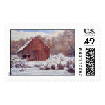 Snow Barn in the Mountains- stamps