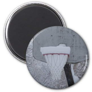 Snow Basketball Magnet