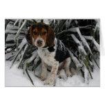 Snow Beagle - Cute Snoopy Dog Winter Greeting Card
