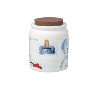 Snow Bear Candy Jar Canister Home Decor Kitchen 1