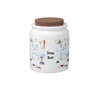 Snow Bear Candy Jar Canister Home Decor Kitchen 2