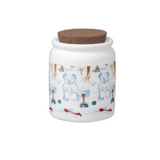 Snow Bear Candy Jar Canister Home Decor Kitchen 3