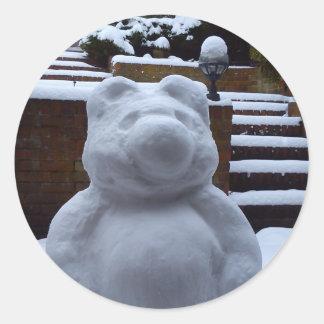 Snow Bear Classic Round Sticker