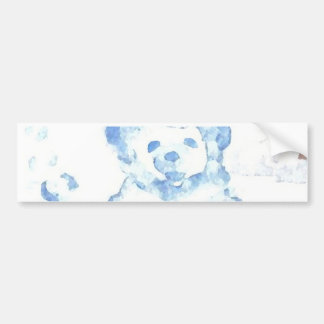 """Snow Bear""  CricketDiane Coffee Art Bumper Sticker"