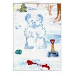 """Snow Bear""  CricketDiane Coffee Art Card"