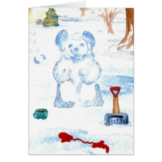"""Snow Bear""  CricketDiane Coffee Art Card"