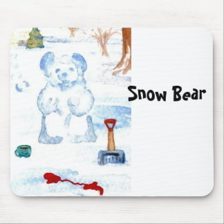 """Snow Bear""  CricketDiane Coffee Art Mouse Pad"