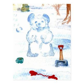 """Snow Bear""  CricketDiane Coffee Art Postcard"