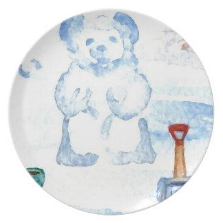 Snow Bear Home Decor Kitchenware Plates