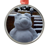 Snow Bear Metal Ornament
