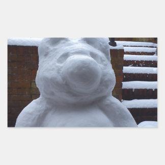 Snow Bear Rectangular Sticker