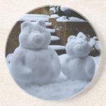 Snow Bears Drink Coasters