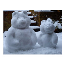 Snow Bears Postcard