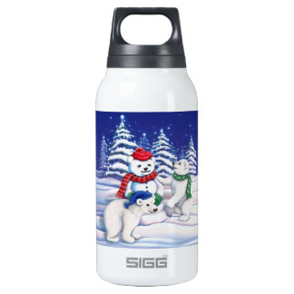 Snow Bears Thermos Water Bottle