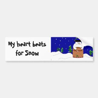 Snow Beats Bumper Sticker