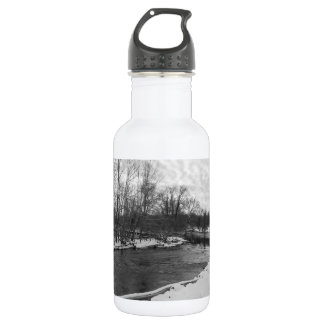 Snow Beauty James River Grayscale Stainless Steel Water Bottle