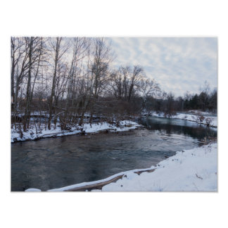 Snow Beauty James River Poster