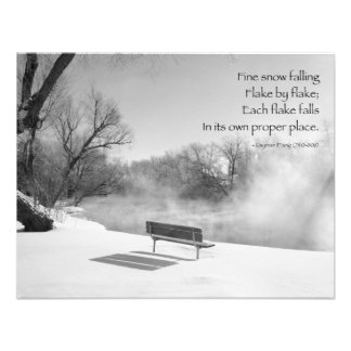 Snow Bench in Silence Custom Announcements