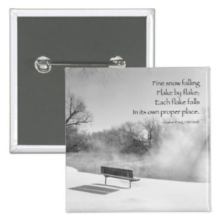 Snow Bench in Silence Pinback Button
