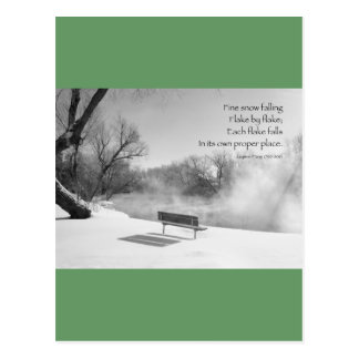 Snow Bench in Silence Postcards